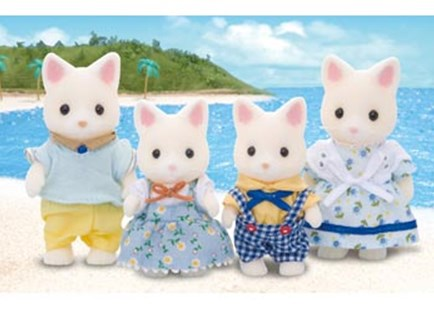 Sylvanian Families - Silk Cat Family - Children's Toys & Games Figures & Dolls