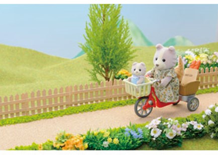 Sylvanian Families - Cycling with Mother - Children's Toys & Games Figures & Dolls