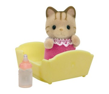 Sylvanian Families - Striped Cat Baby - Children's Toys & Games Figures & Dolls
