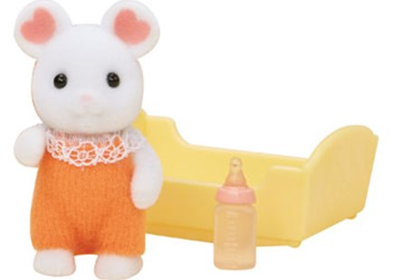 Sylvanian Families - Marshmallow Mouse Baby - Children's Toys & Games Figures & Dolls