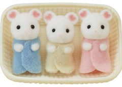 Sylvanian Families - Marshmallow Mouse Triplets