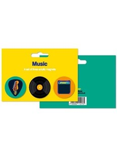 Music Theme Acrylic Magnets Set of 3 - Entertainment Music General