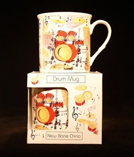 Fine China Mug - Drums Design - Entertainment Music General