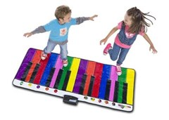 RainbowColours - Giant Piano Mat