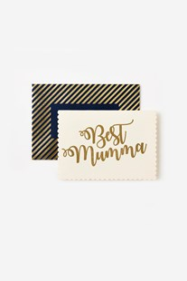 Katie Leamon - Single Card Gold Best Mumma - Cards & Wrap