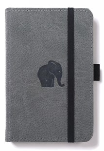 Dingbats* Wildlife A6 Pocket Grey Elephant Notebook - Plain - Notebooks & Journals Notebook - Plain