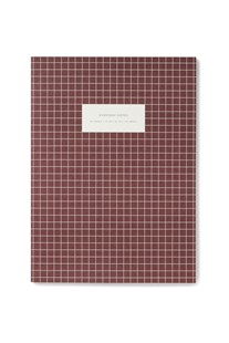 Check Notebook - Ruled - XLRG - Bordeaux - Notebooks & Journals