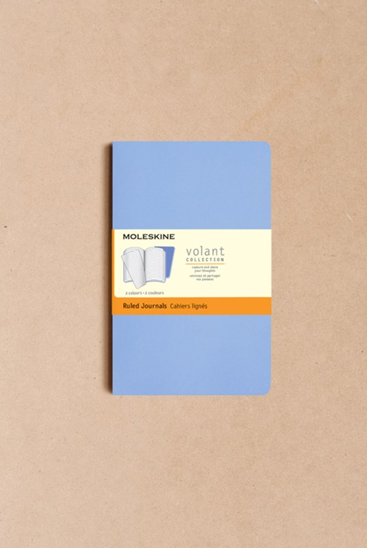 Moleskine - Volant Notebook - Set of 2 - Ruled - Pocket - Blue