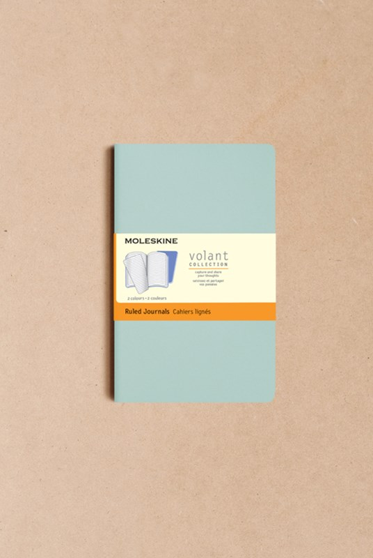 Moleskine - Volant Notebook - Set of 2 - Ruled - Pocket - Sage