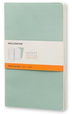 Moleskine - Volant Notebook - Set of 2 - Ruled - Large - Sage