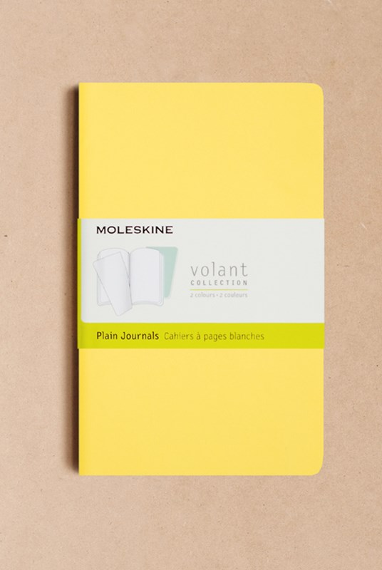 Moleskine - Volant Notebook - Set of 2 - Plain - Large - Sunflower