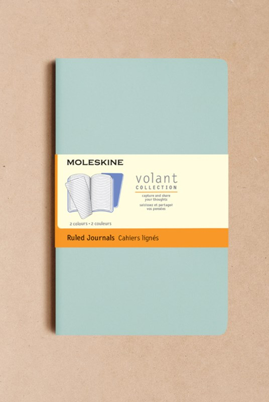 Moleskine - Volant Notebook - Set of 2 - Plain - Large - Sage