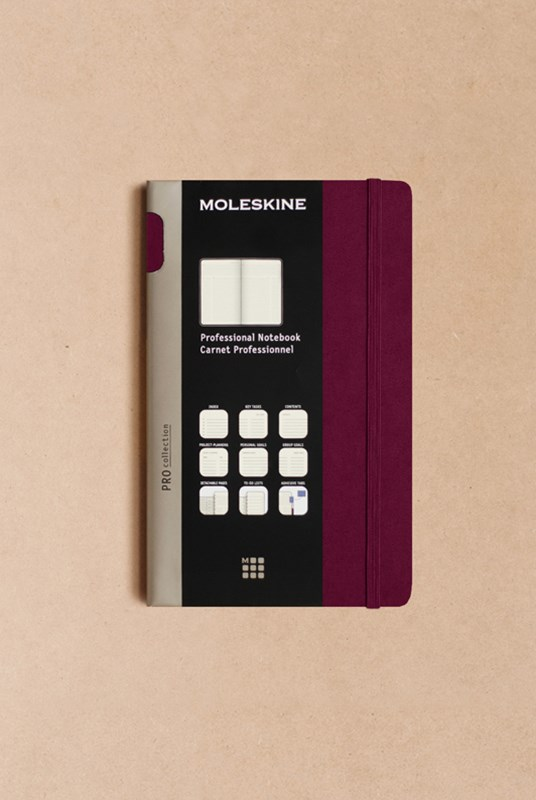 Moleskine - Professional Hard Cover Notebook - Ruled - Large - Plum