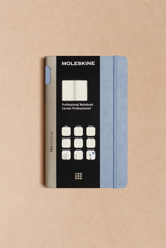 Moleskine - Professional Hard Cover Notebook - Ruled - Large - Aster Grey