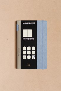 Moleskine - Professional Hard Cover Notebook - Ruled - Large - Aster Grey - Notebooks & Journals Notebook - Meeting & Action