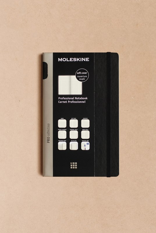 Moleskine - Professional Soft Cover Notebook - Ruled - Large - Black