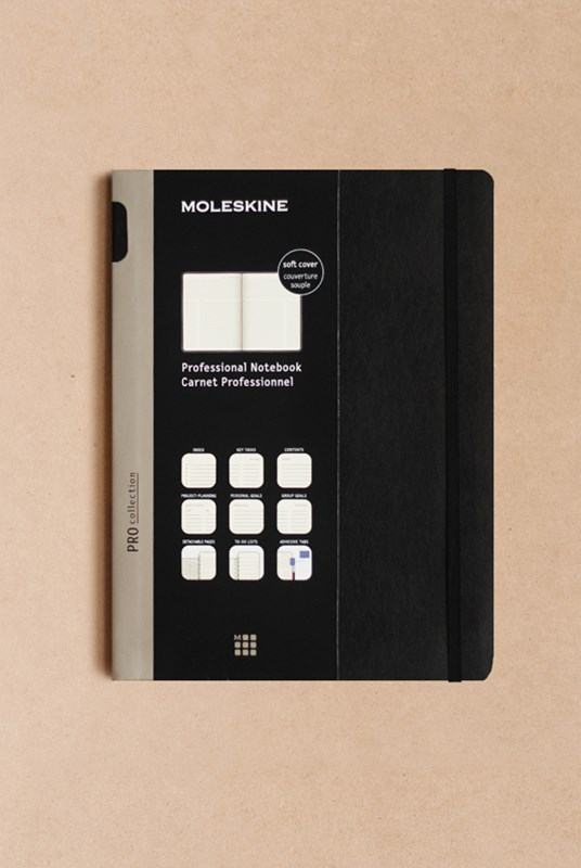 Moleskine - Professional Soft Cover Notebook - Ruled - Extra Large - Black