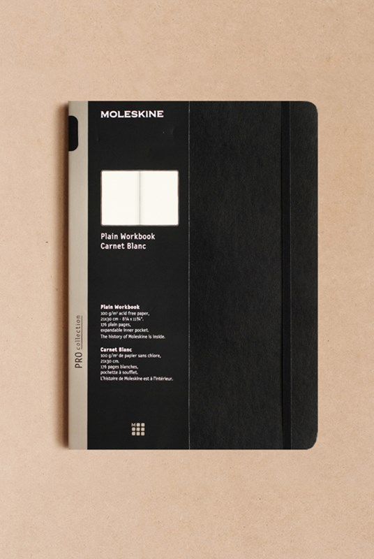 Moleskine - Professional Hard Cover Workbook - Plain - A4 - Black