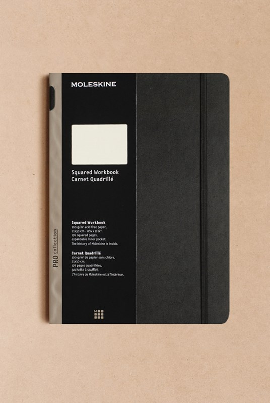 Moleskine - Professional Hard Cover Workbook - Grid - A4 - Black