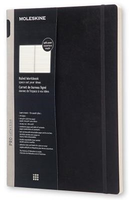 Moleskine - Professional Soft Cover Workbook - Ruled - A4 - Black