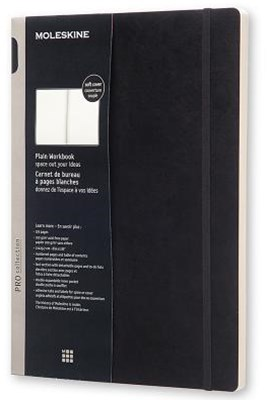 Moleskine - Professional Soft Cover Workbook - Plain - A4 - Black