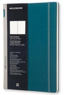 Moleskine - Professional Hard Cover Workbook - Plain - A4 - Tide Green - Notebooks & Journals Notebook - Plain