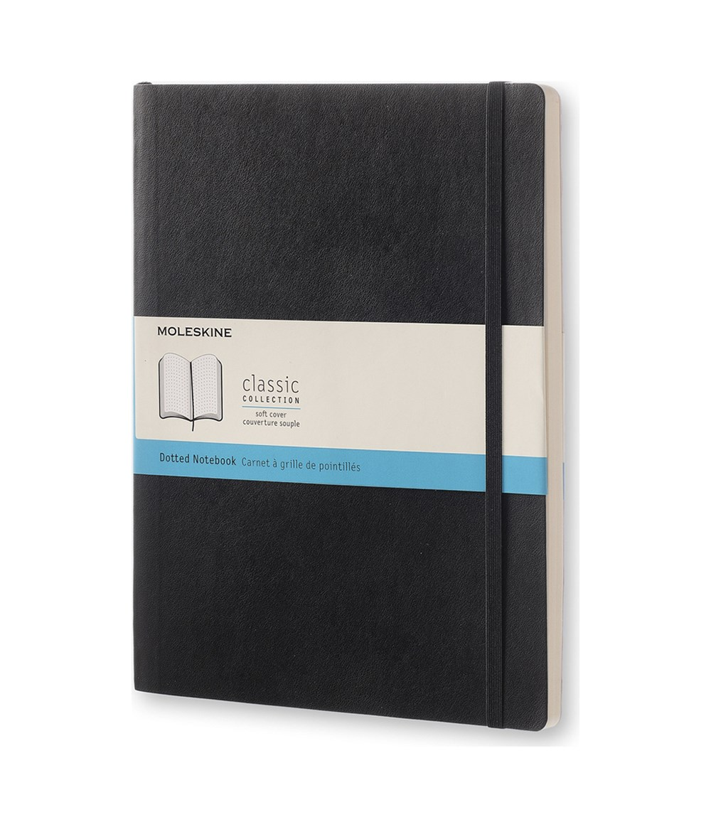 Moleskine - Classic Soft Cover Notebook - Dot Grid - Extra Large - Black