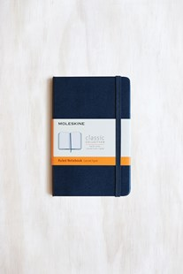Moleskine - Classic Hard Cover Notebook - Ruled - Pocket - Sapphire Blue - Notebooks & Journals Notebook - Ruled