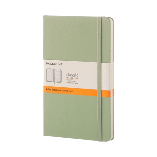 Moleskine - Classic Hard Cover Notebook - Ruled - Large - Willow Green