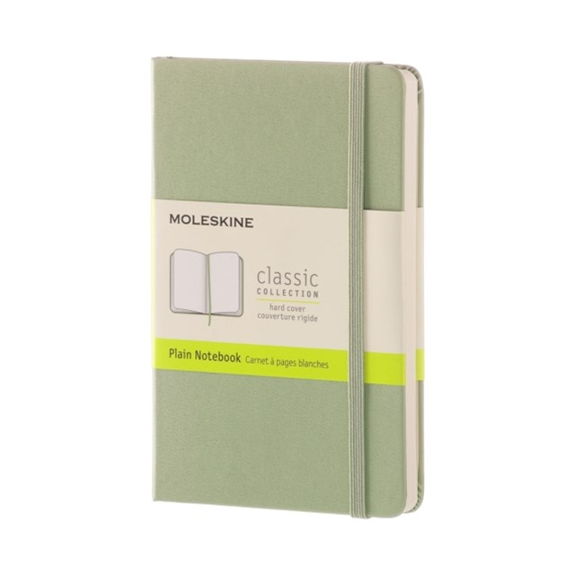 Moleskine - Classic Hard Cover Notebook - Plain - Pocket - Willow Green