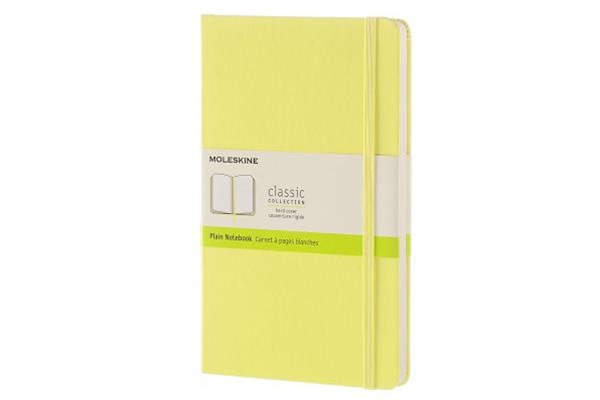 Moleskine - Classic Hard Cover Notebook - Plain - Large - Citron Yellow
