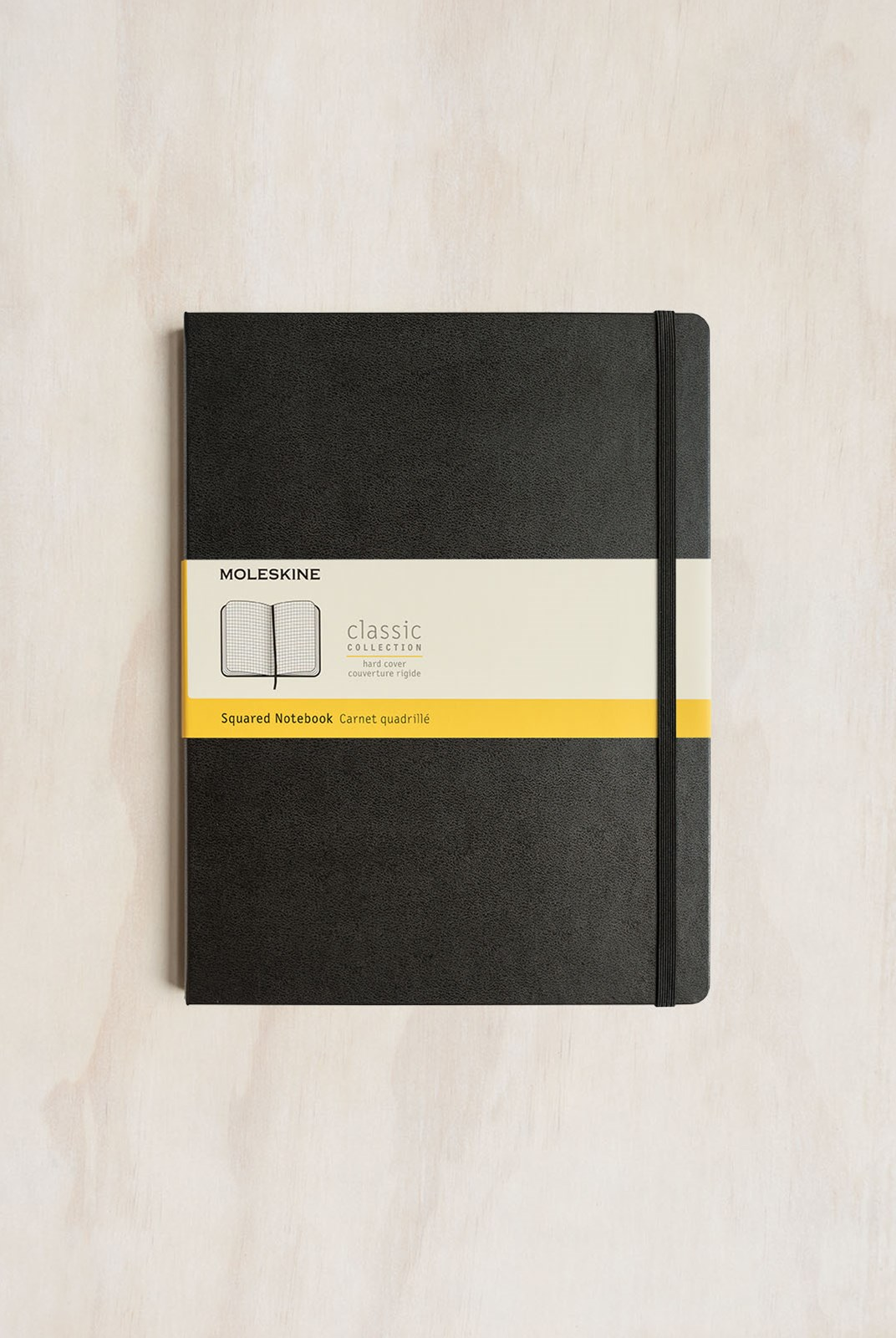 Moleskine - Classic Hard Cover Notebook - Grid - Extra Large - Black