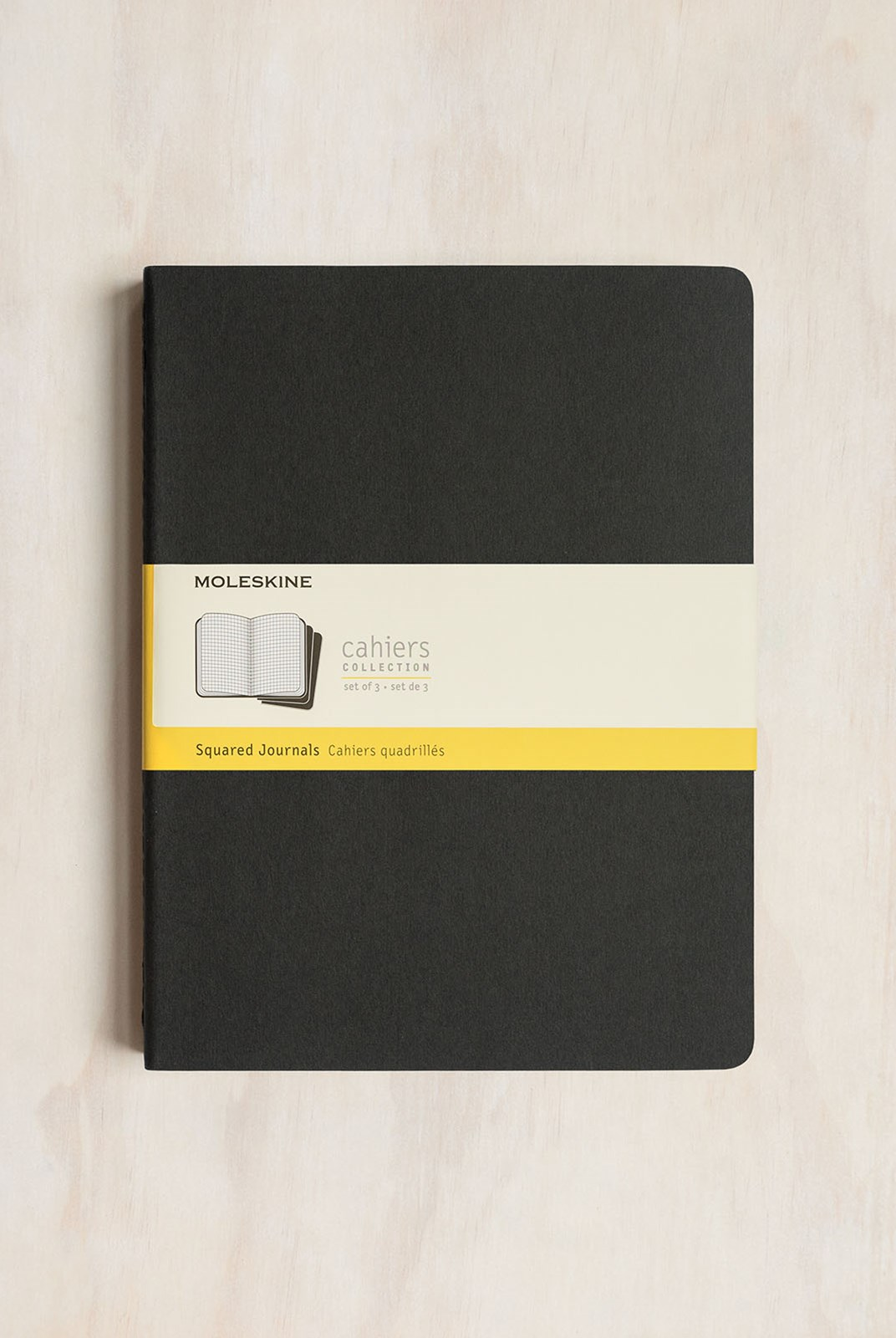 Moleskine - Cahier Notebook - Set of 3 - Grid - Extra Extra Large - Black