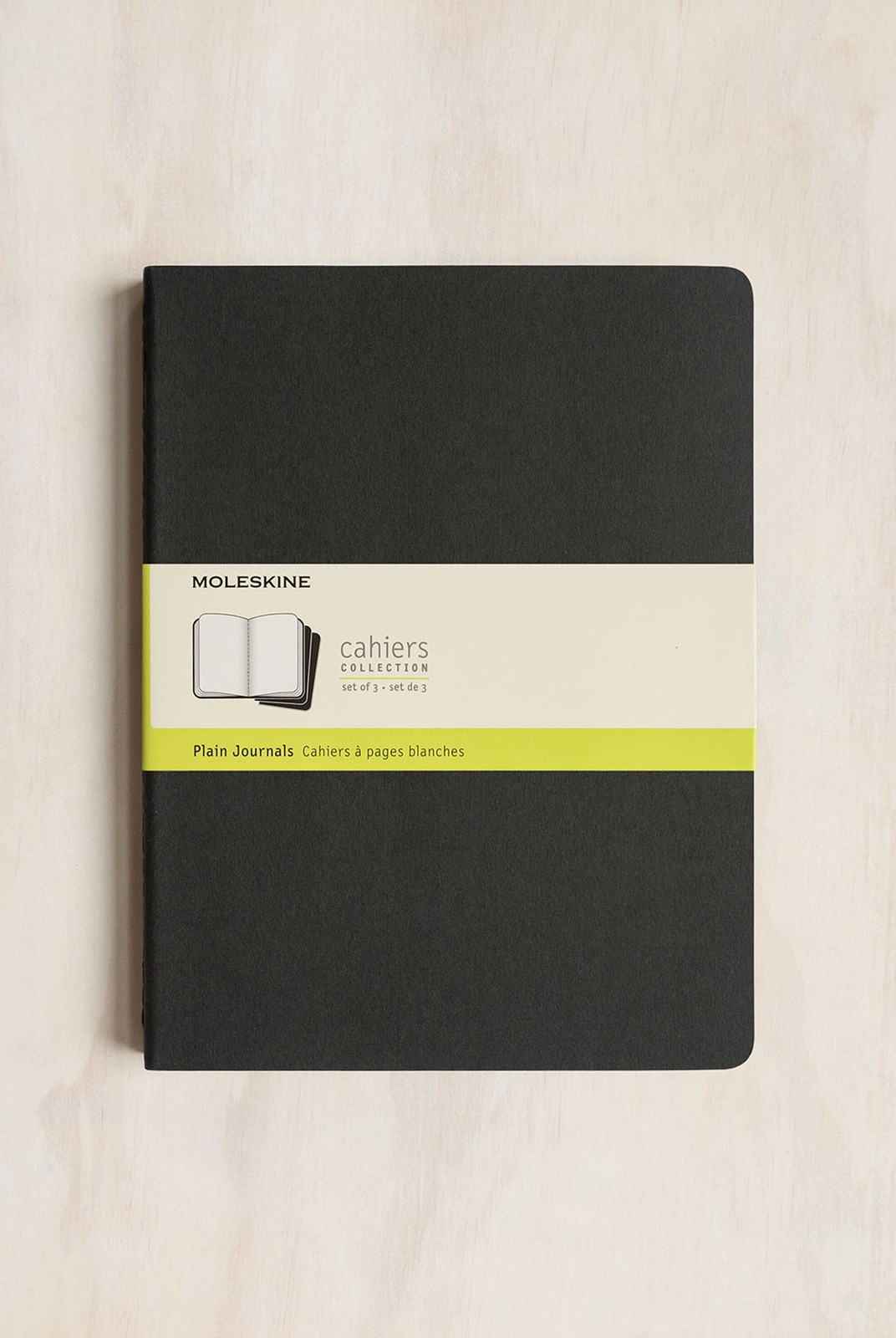 Moleskine - Cahier Notebook - Set of 3 - Plain - Extra Extra Large - Black