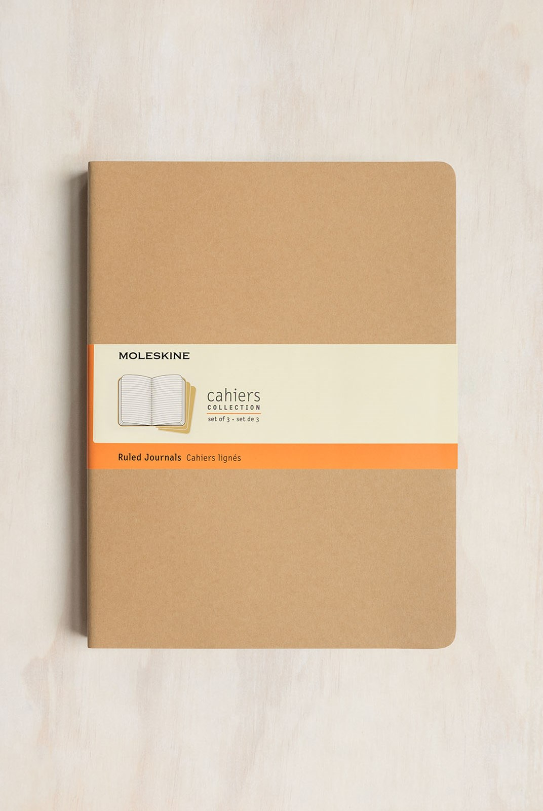 Moleskine - Cahier Notebook - Set of 3 - Ruled - Extra Extra Large - Kraft