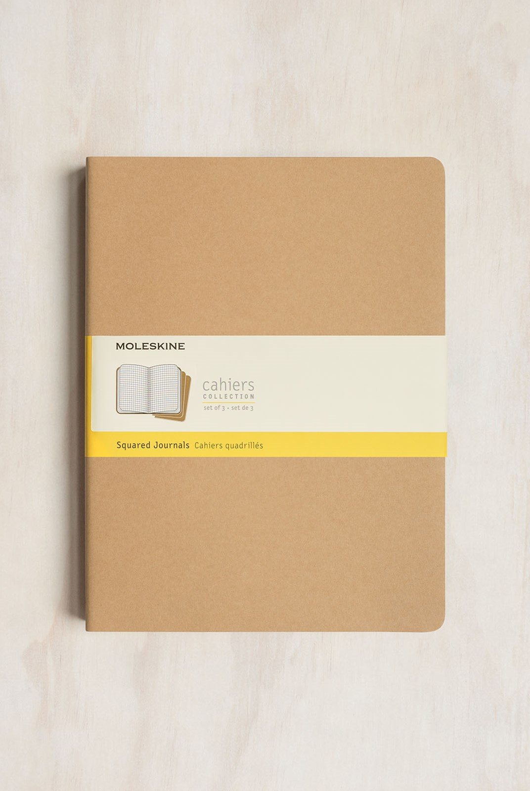 Moleskine - Cahier Notebook - Set of 3 - Grid - Extra Extra Large - Kraft