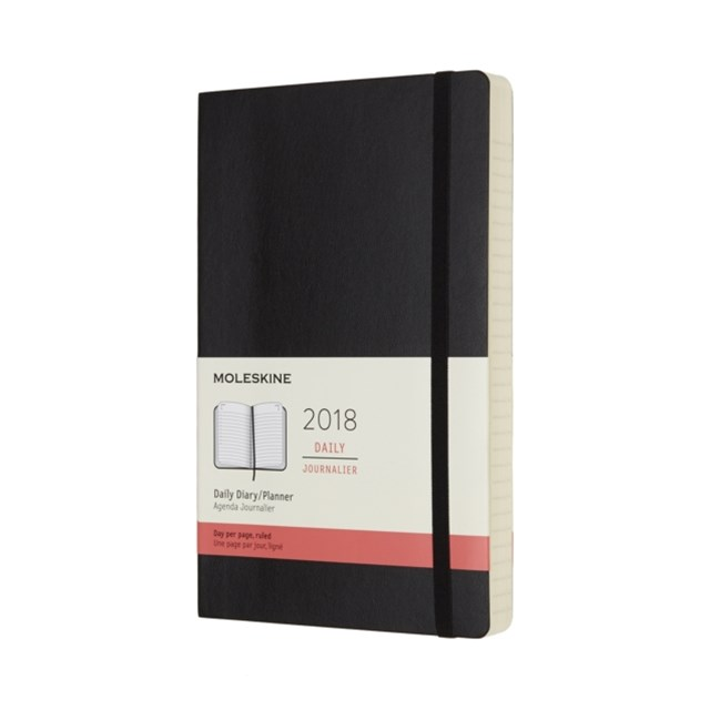 Moleskine - 2018 Soft Cover Diary - Daily - Large - Black