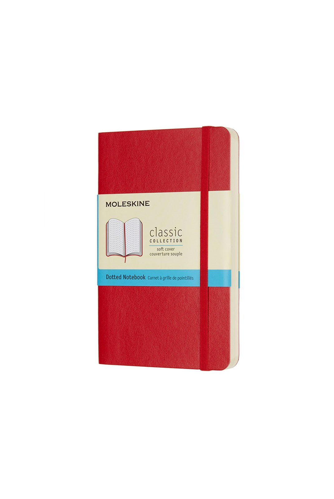 Moleskine - Classic Soft Cover Notebook - Dot Grid - Pocket - Scarlet Red
