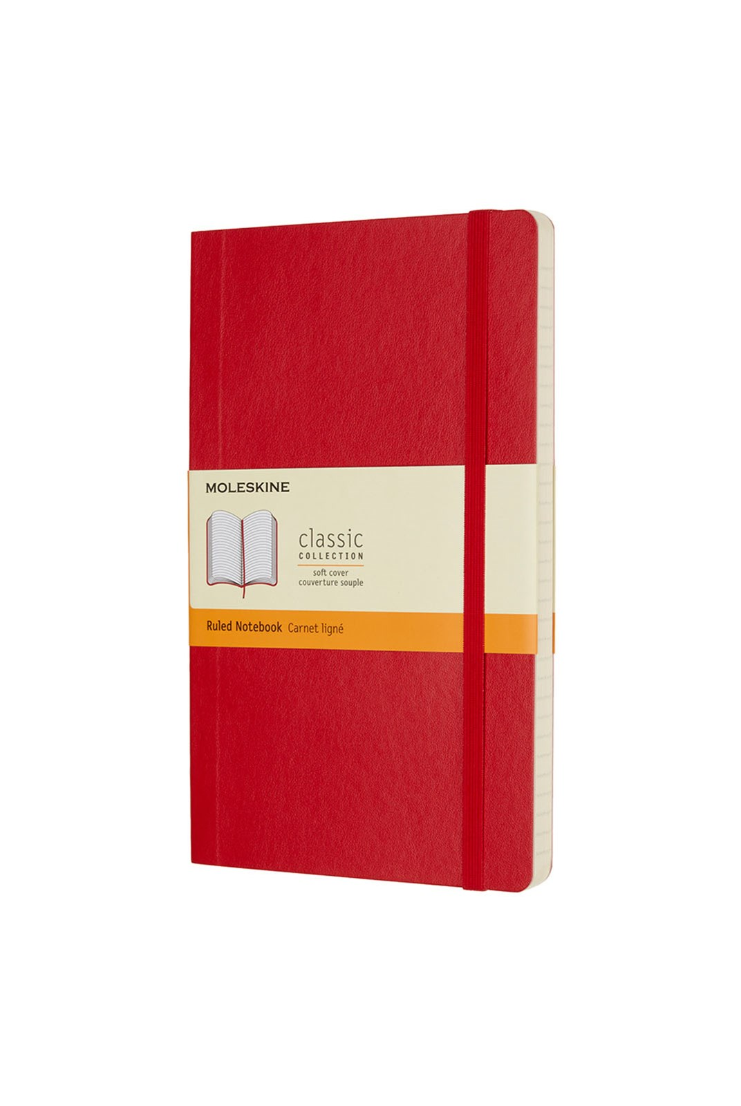 Moleskine - Classic Soft Cover Notebook - Ruled - Large - Scarlet Red