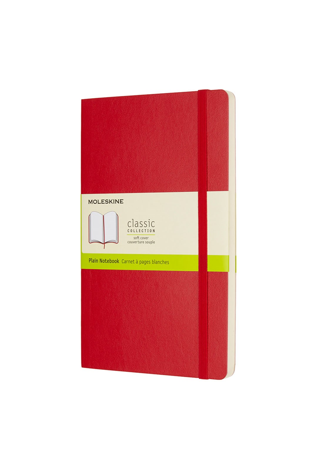 Moleskine - Classic Soft Cover Notebook - Plain - Large - Scarlet Red