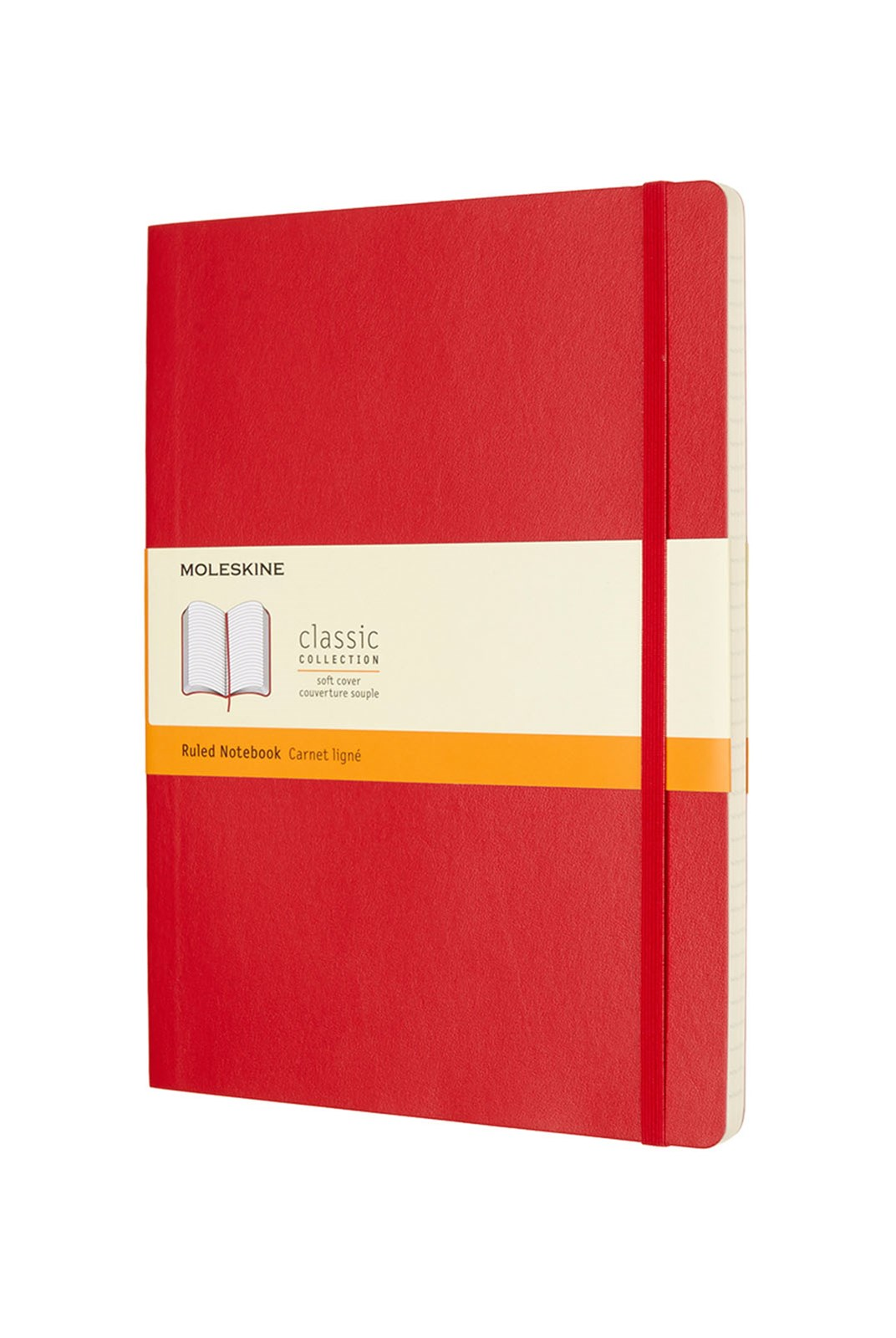 Moleskine - Classic Soft Cover Notebook - Ruled - Extra Large - Scarlet Red