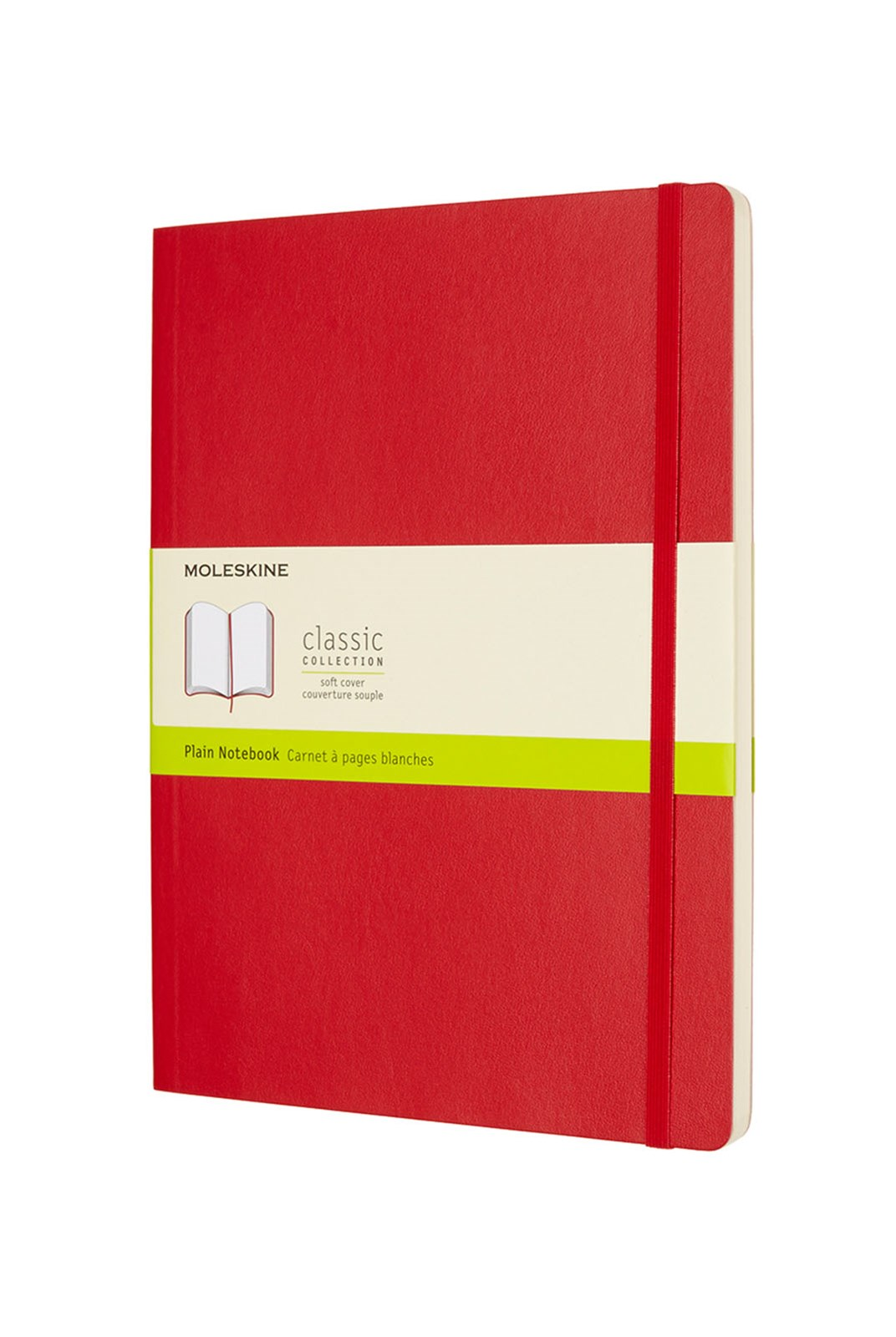 Moleskine - Classic Soft Cover Notebook - Plain - Extra Large - Scarlet Red