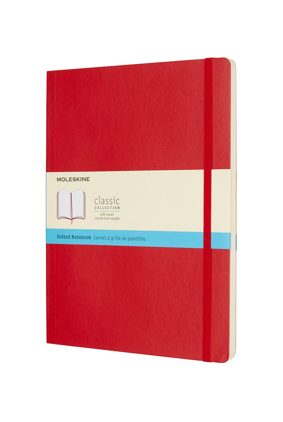 Moleskine - Classic Soft Cover Notebook - Dot Grid - Extra Large - Scarlet Red
