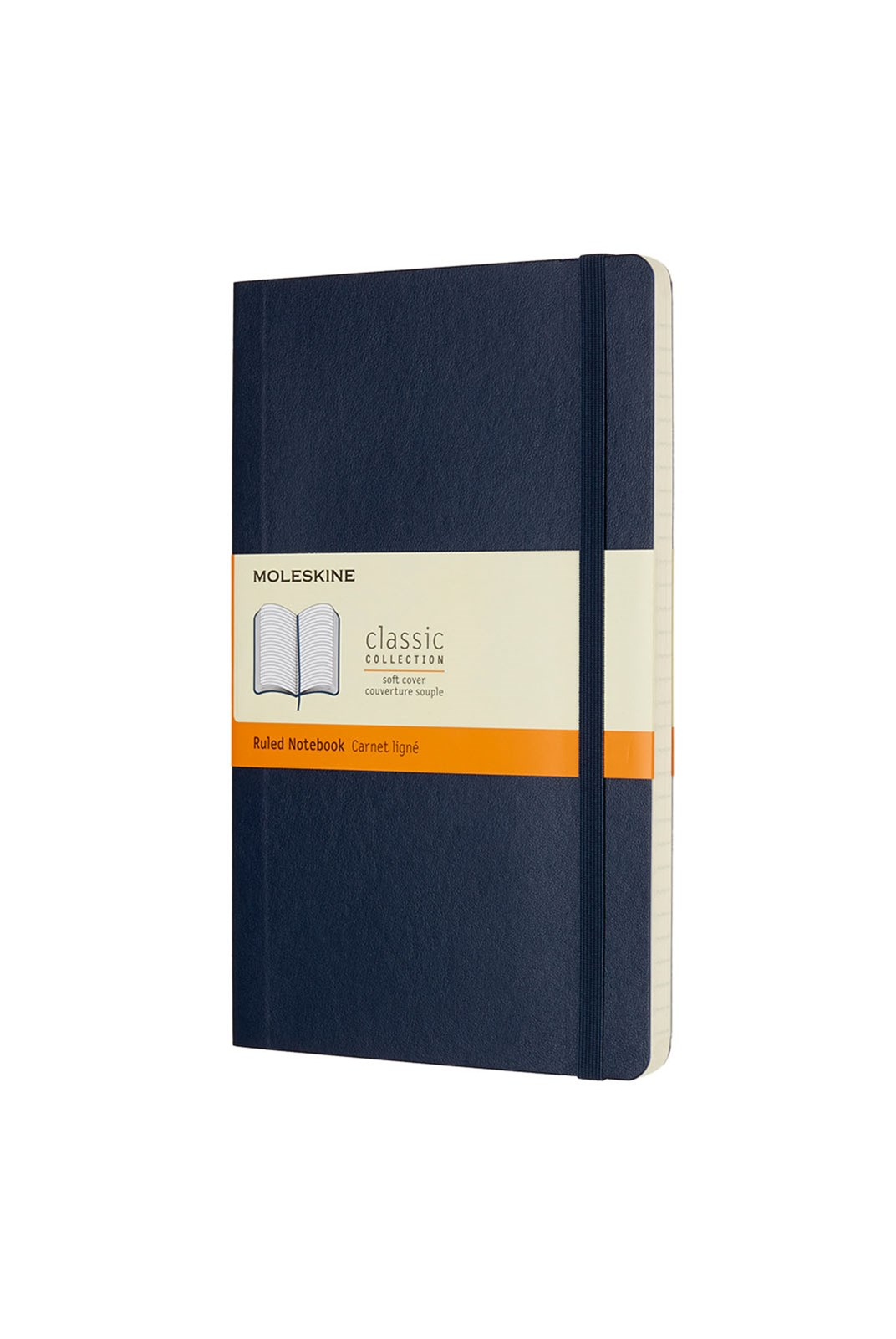 Moleskine - Classic Soft Cover Notebook - Ruled - Large - Sapphire Blue