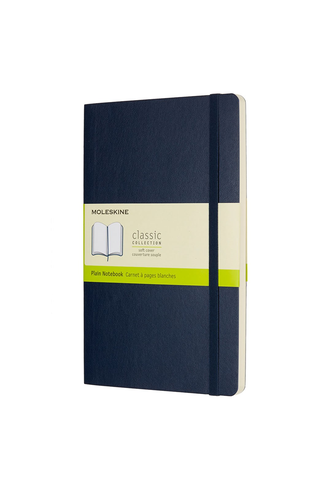 Moleskine - Classic Soft Cover Notebook - Plain - Large - Sapphire Blue