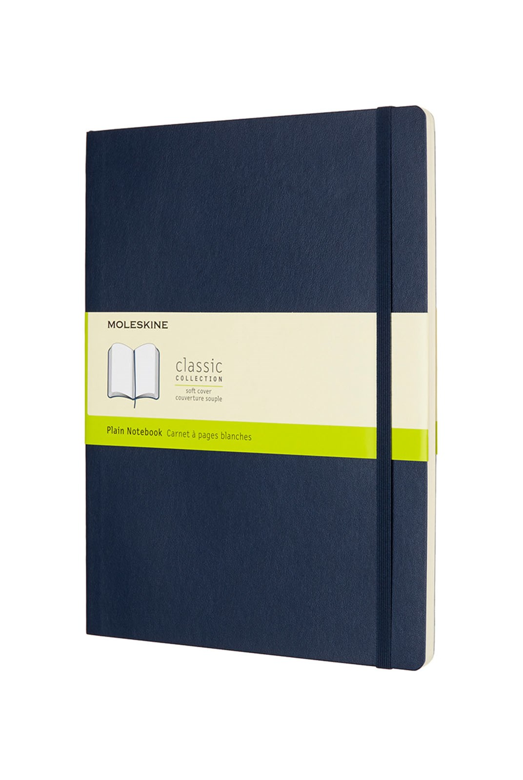 Moleskine - Classic Soft Cover Notebook - Plain - Extra Large - Sapphire Blue