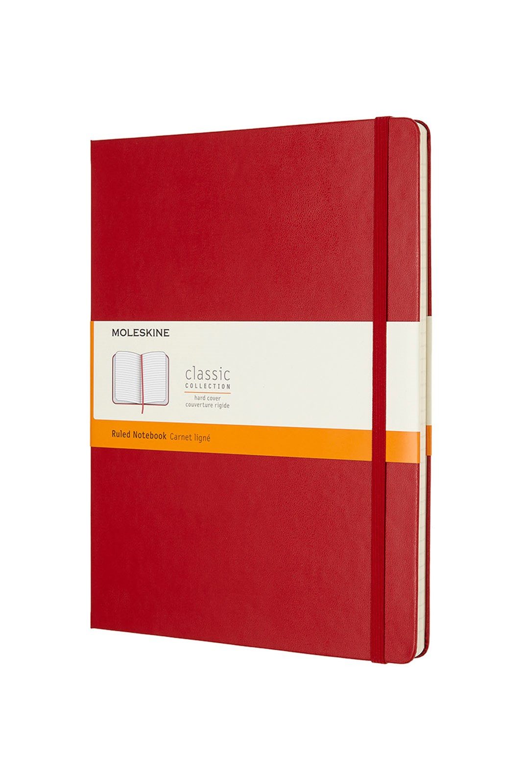 Moleskine - Classic Hard Cover Notebook - Ruled - Extra Large - Scarlet Red