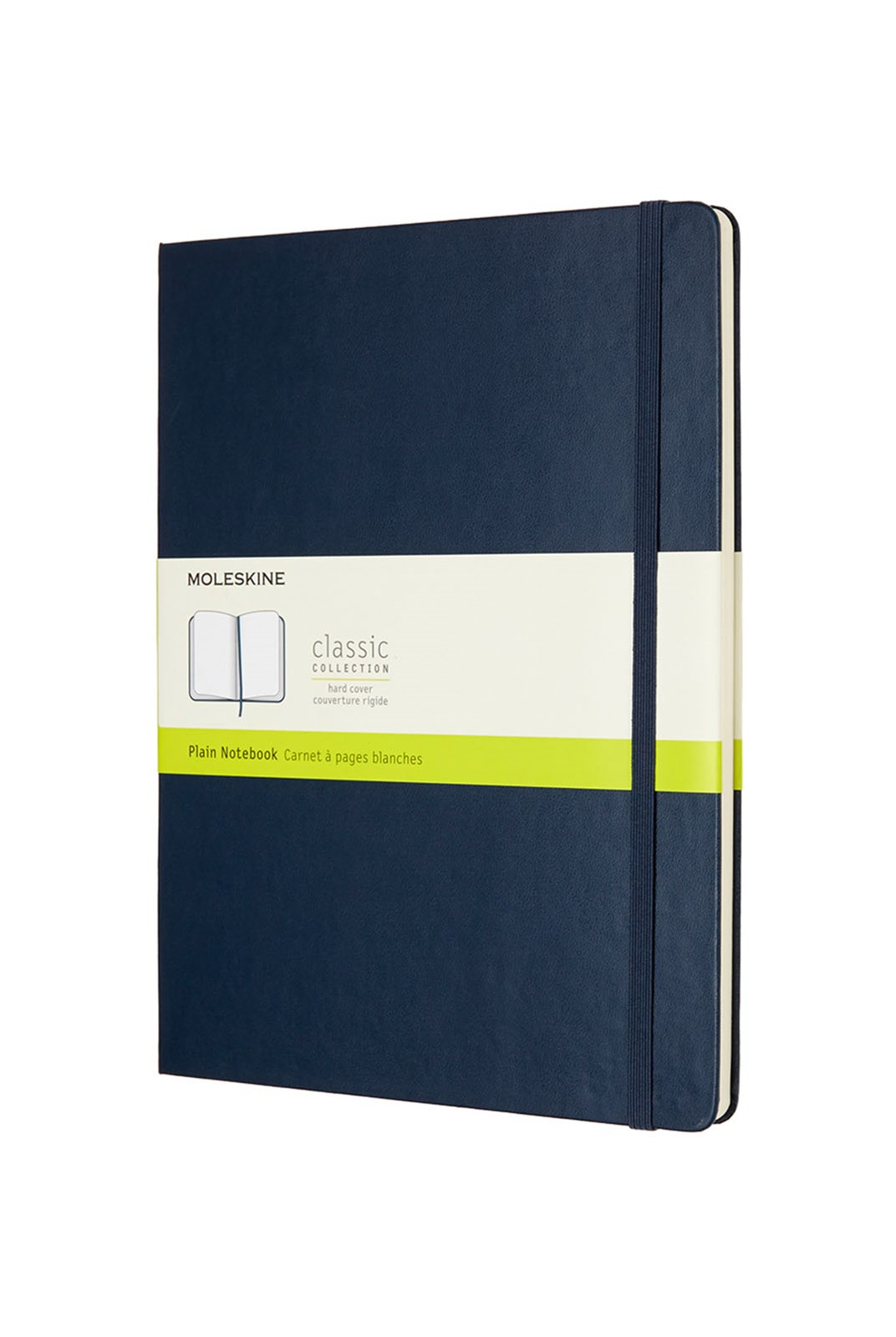 Moleskine - Classic Hard Cover Notebook - Plain - Extra Large - Sapphire Blue