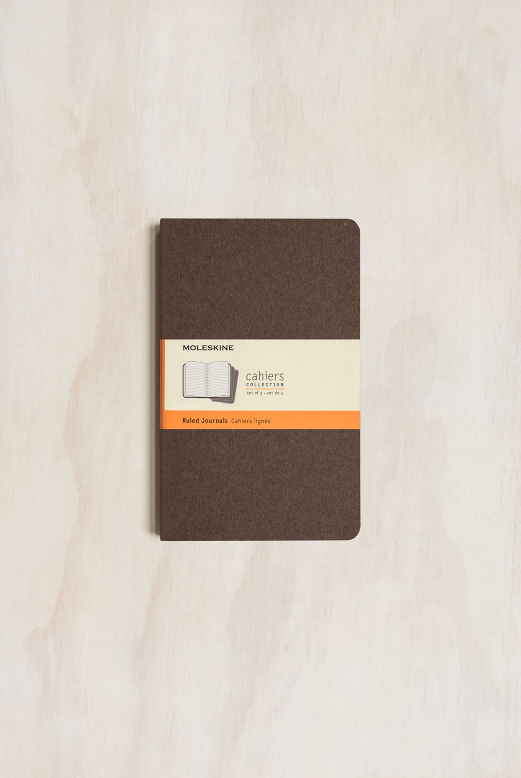 Moleskine - Cahier Notebook - Set of 3 - Ruled - Large - Coffee Brown