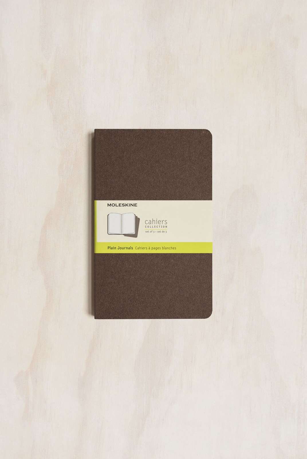 Moleskine - Cahier Notebook - Set of 3 - Plain - Large - Coffee Brown